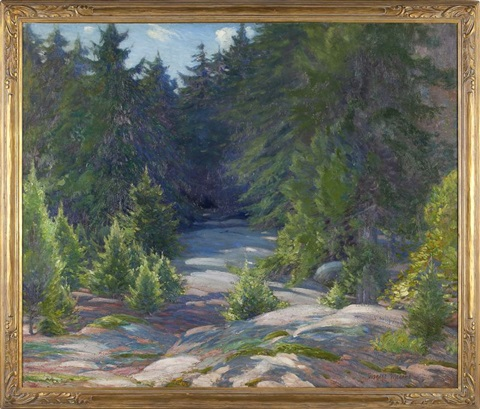 forest clearing by gustave adolph wiegand