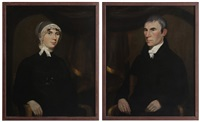 half portraits (pair) by ralph eleaser whiteside earl