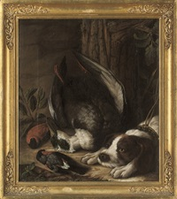 a hunting dog and his prey by johann friedrich grooth