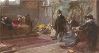nello studio del pittore by giuseppe cassioli