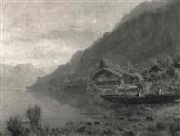 uferlandschaft an einem schweizer see by jean-marc dunant-vallier