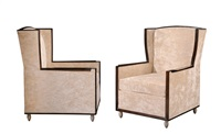 armchairs (pair) by jules deroubaix