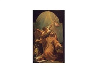 san francisco de asis confortado por un ángel by d. francisco bayeu y subias