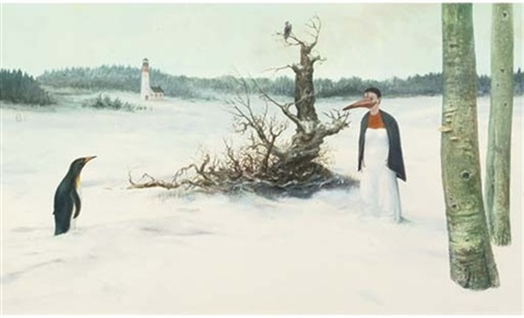 a surrealistic winter landscape another 2 works by tobias baanders
