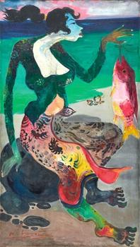 fish seller by hendra gunawan
