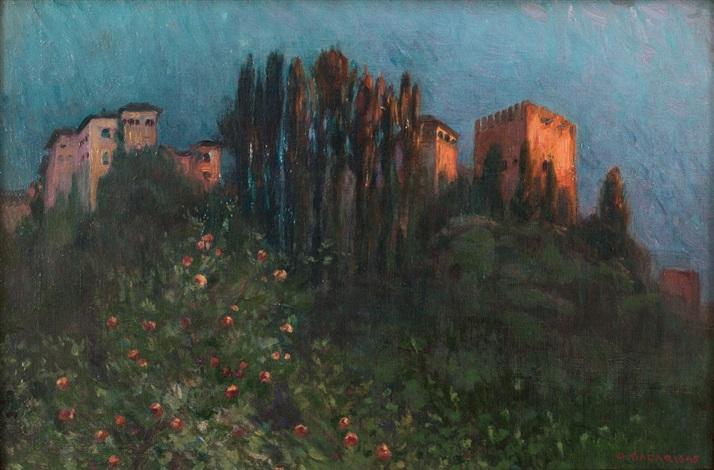 vista de la alhambra by gustavo bacarisas