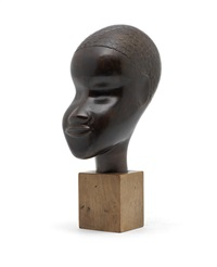 a bust of african woman by lazlo hoenig