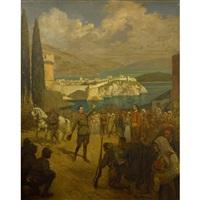 a historical scene by george bertin scott