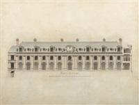 façades du château de valençay, côté cour et parc (sketch) by joseph abel couture