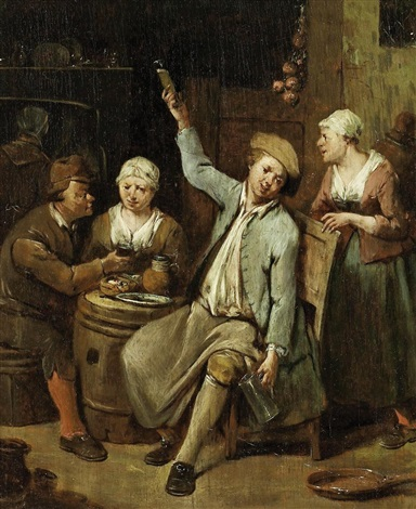 im wirtshaus by jan baptist lambrechts