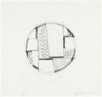 drawing tondo no. 3 by fritz glarner