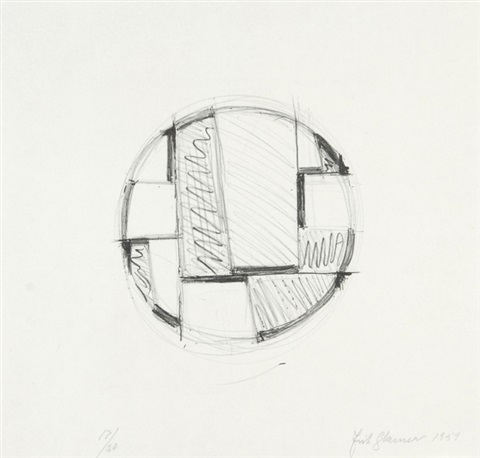 drawing tondo no 3 by fritz glarner