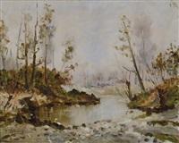 lavandaie al fiume by giuseppe solenghi