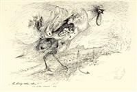 der kriegshahn schreit (+ sketch, verso) by casper walter rauh