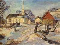 new england winter by frederick lester sexton