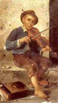 the young fiddler by adolf raufer