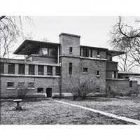 frank lloyd wright, robie house (pair) by aaron siskind