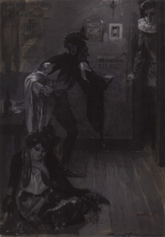 theatrical scene by sydney adamson