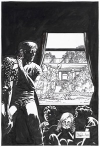the walking dead (us cover) by charlie adlard