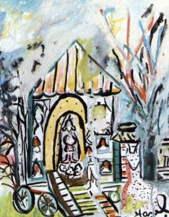 the beautiful circus caravan in richmond where mrs mills writes her superb plays by hazel guggenheim mckinley