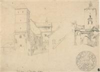 heidenturm auf der kaiserburg in nürnberg by heinrich reinhold