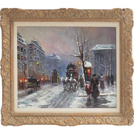 la madeleine in winter by edouard léon cortès