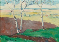 spring landscape by paul barnard earle
