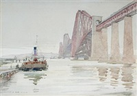 the forth rail bridge, near edinburgh by robert eadie