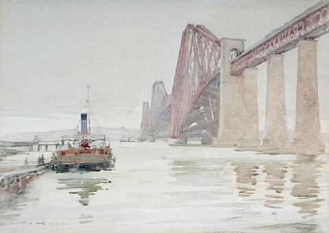 the forth rail bridge near edinburgh by robert eadie