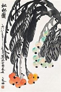 枇杷图 by liu wenxi