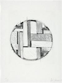 drawing tondo no. 6 by fritz glarner