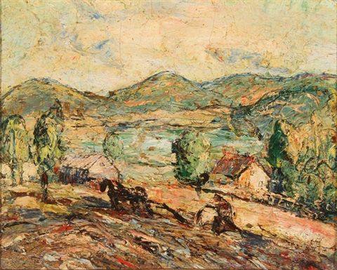 plowing the field by ernest lawson