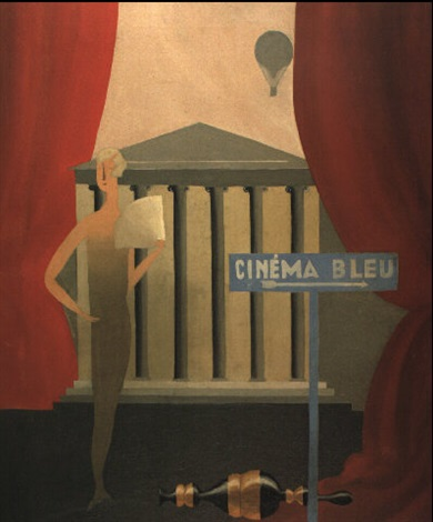Le cinema bleu by René Magritte on artnet