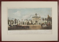 a view of the mansion of the late lord timothy dexter, high street, newburyport, 1810 by john henry bufford