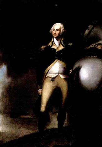 portrait of president george washington by emanuel gottlieb leutze