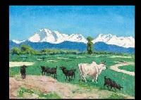 himalayas in nepal by gorô tsuruta