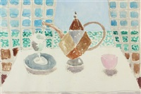 still life with teapot by duncan grant