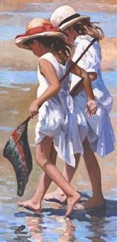 girls on the beach by sherree valentine daines