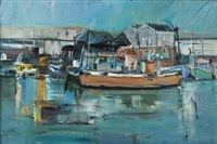 harbour scene by sidney goldblatt