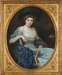 bildnis einer eleganten dame by caspar ritter