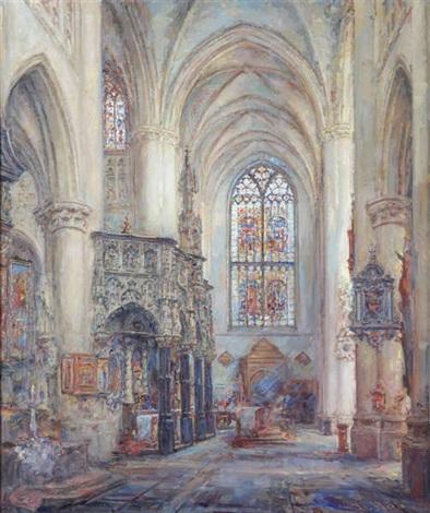 Intérieur de léglise Saint-Gommaire à Lierre by Frans Ros on artnet