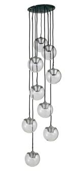 lampada a sospensione mod.no.2095/9 by gino sarfatti