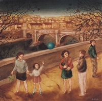 incontri sul lungotevere (il palloncino blu) by mimmo andriuoli