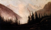 colorado mountain landscape by henry arthur elkins