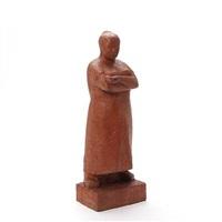 to skulpturer, bestående af: stående kvinde med kurv (pair) by adam fischer