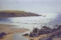 a summer sunlit sea, cemaes bay, anglesea by john mcdougal