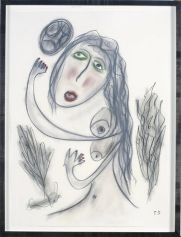 untitled female nude by thornton dial