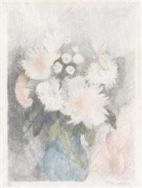 bouquet de fleurs dans un vase by marie laurencin