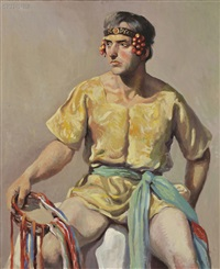 seated bacchus by h. boylston dummer