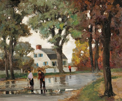 going for a walka view of main street rockport massachusetts by anthony thieme